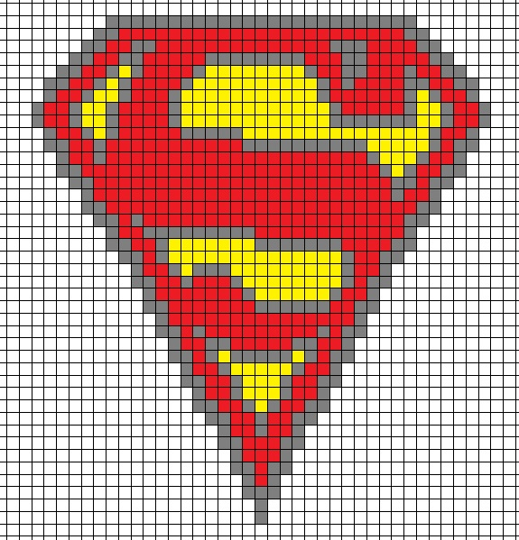 Superman Knitting Pattern : Superman knitting Chart by Lex-the-Sparrow on DeviantArt