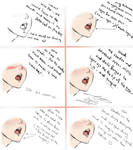 How To Draw Saliva drooling ..