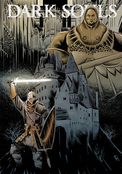 Dark souls inspired comic book cover