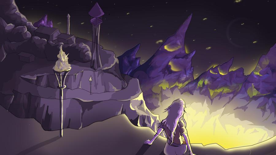 Mountaintop - Purple by OMGitzSam