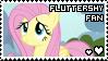 fluttershy fan stamp by smol-panda