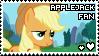 applejack fan stamp by smol-panda