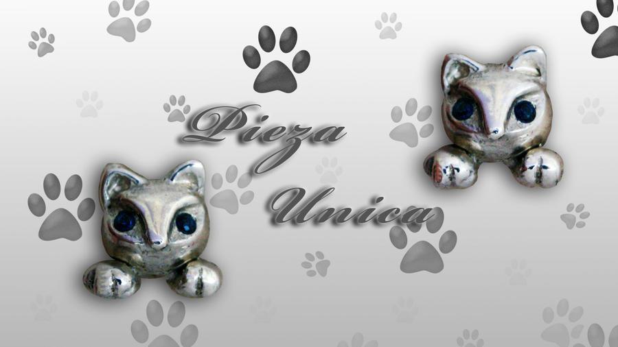 Aretes Gato by lyveisha