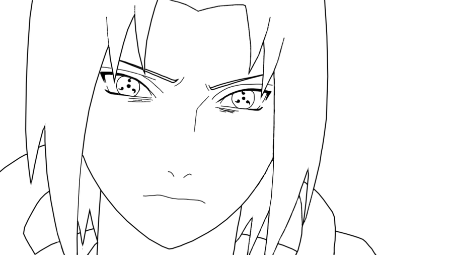 Sasuke Lineart : Uchiha sasuke lineart by mishinama san on deviantart