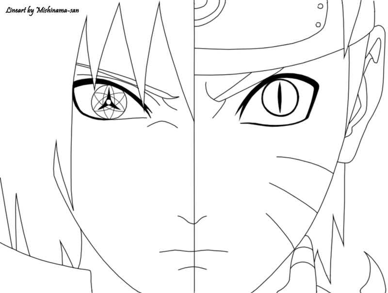 Naruto Shippuden Lineart : Naruto and sasuke lineart by mishinama san on deviantart
