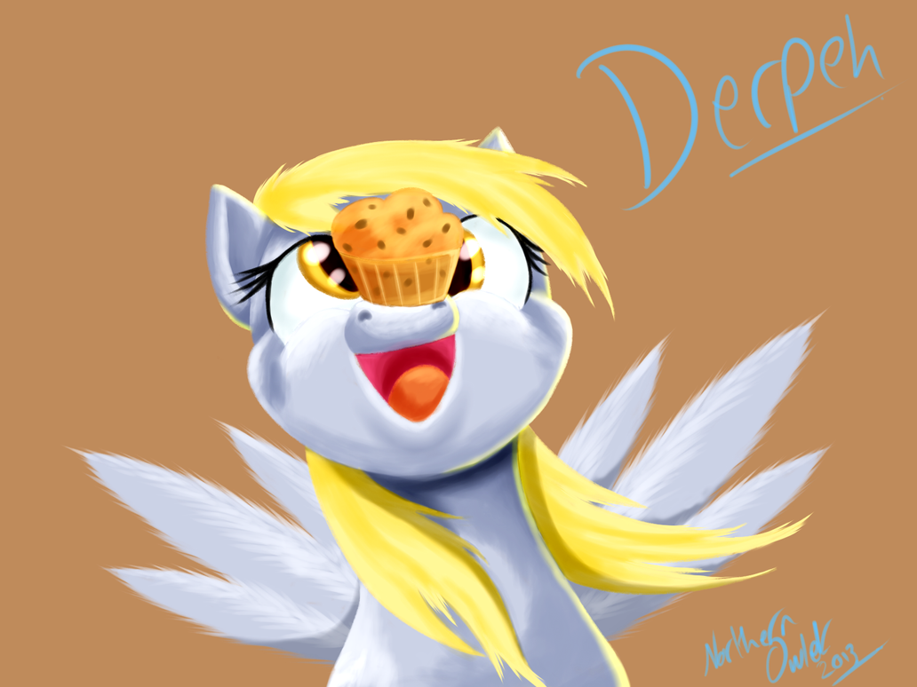 Derpeh Muffin by AC-whiteraven