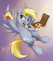 Free Pizza!! by AC-whiteraven