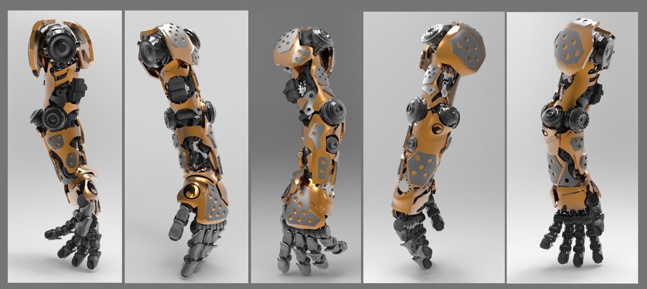 Hard Surface Mech Arm by llazyad