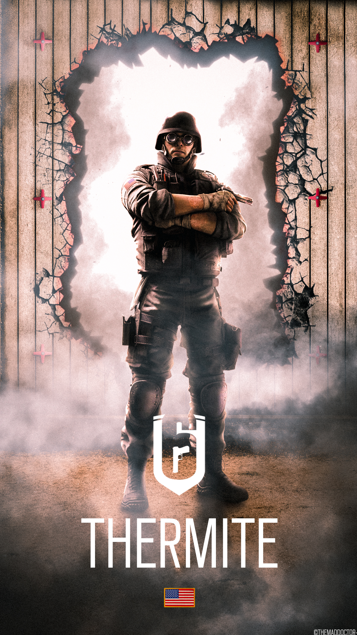Thermite S Mobile Wallpaper Rainbow Six Siege By