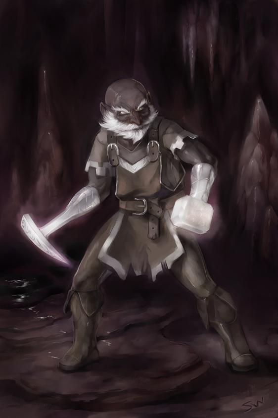 La faille : dans les Abysses (3) Most_honorable_burrow_warden___belwar_dissengulp_by_wood_illustration-d5cv0ta