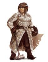 Dwarf Cleric by wood-illustration