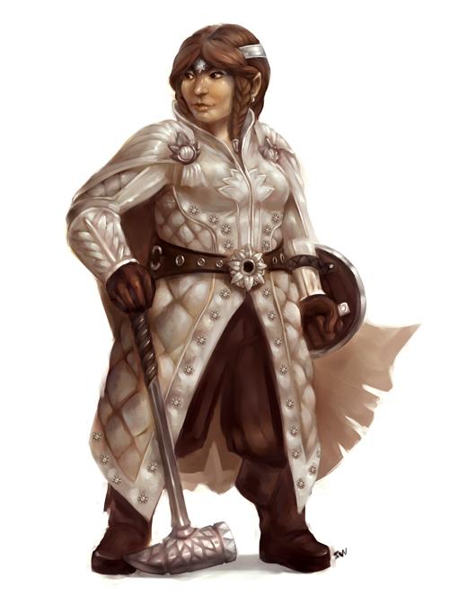 Dwarf Cleric By Wood Illustration On Deviantart