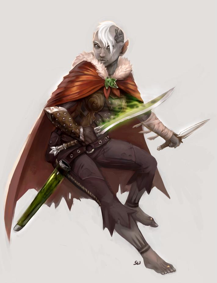 Underdark Ranger by wood-illustration