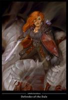 Dwarf fighter by wood-illustration