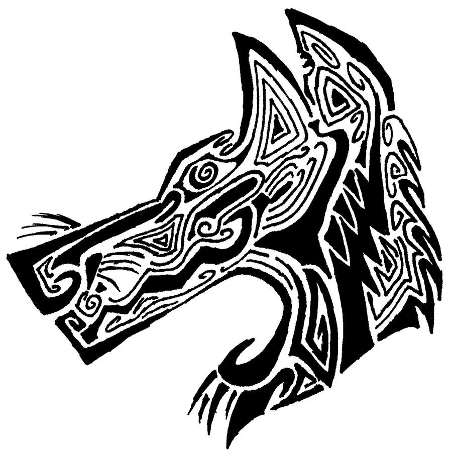 Tribal Wolf Wallpaper: Tribal Wolf Tattoo By P40-Warhawk On DeviantArt