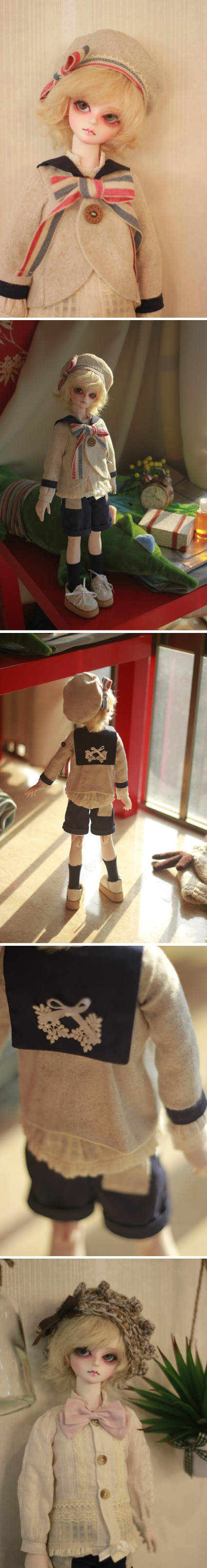 Sailor suit for 1/4 bjd by ASingleGiraffe