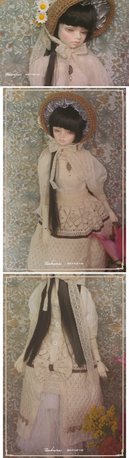 vintage skirt for 1/3 BJD by ASingleGiraffe