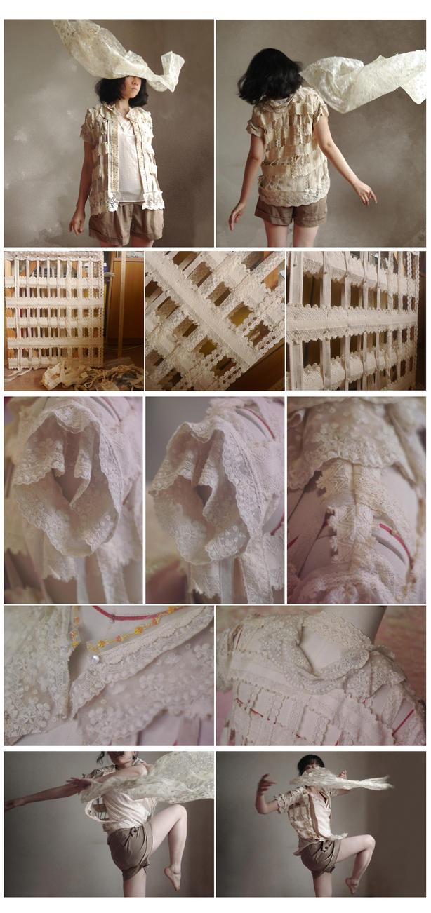 lace-knited outerwear by ASingleGiraffe