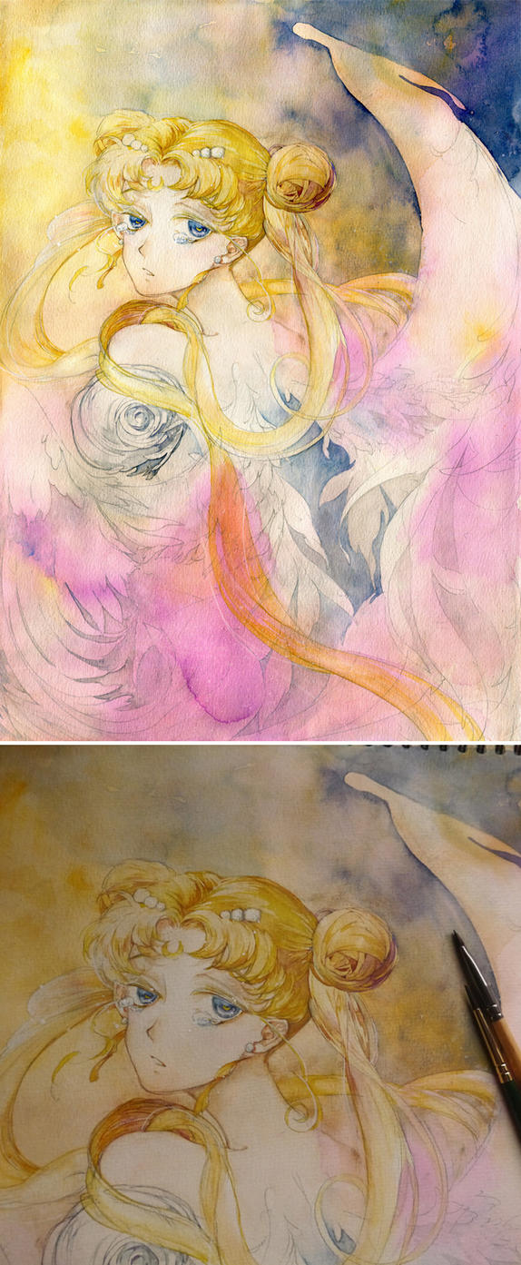 moon tears by ASingleGiraffe