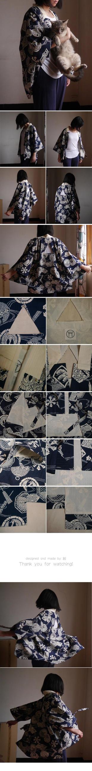 Japanese style coat-TRIANGLE by ASingleGiraffe