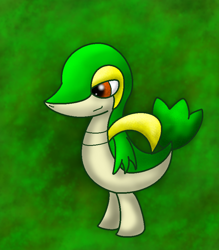 Snivy -GIMP edit- by StormerStatic