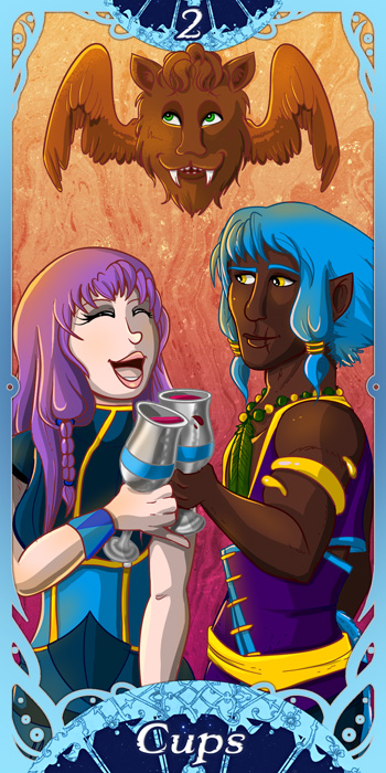 Millennium: Two of Cups by miluette