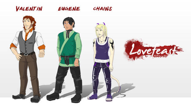 Main Character Color Reference: Val, Yu, + Chains