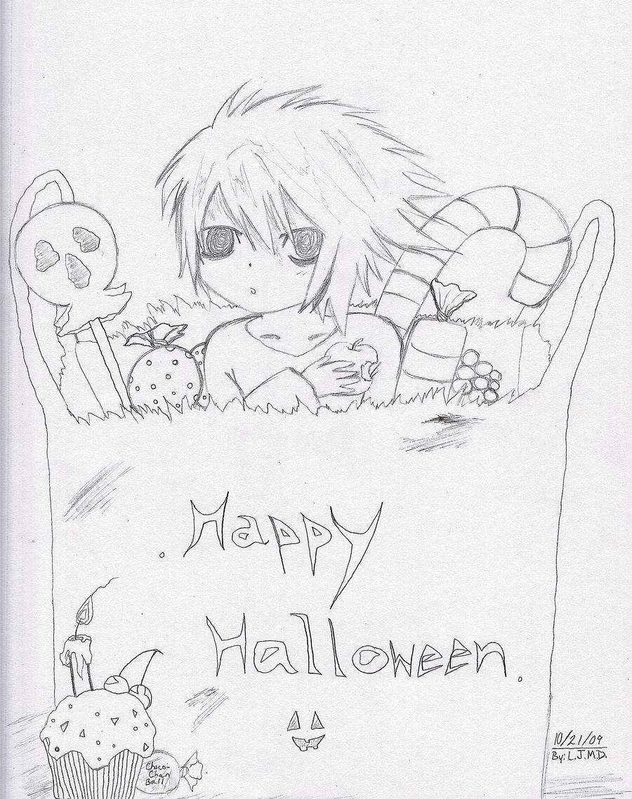 Happy Halloween L-sketch 1. by Leeleechanlee