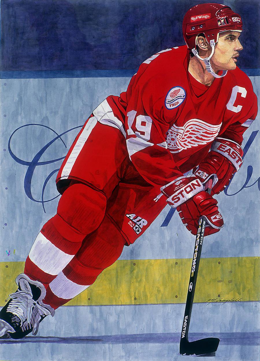 Steve Yzerman - Detroit Red Wings by MSCampbell