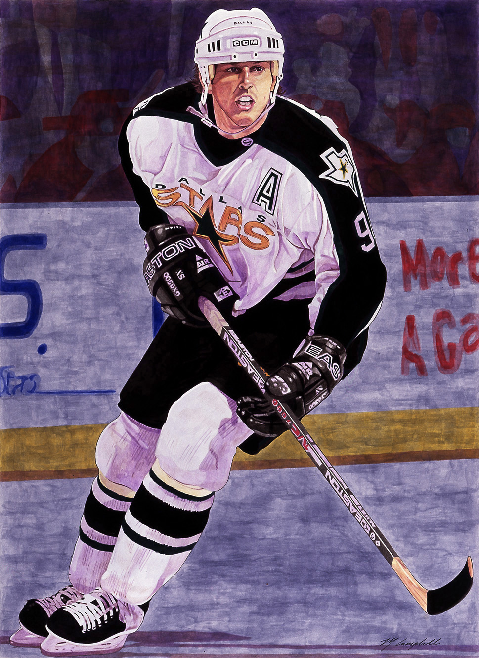 Mike Modano - Dallas Stars Hockey by MSCampbell