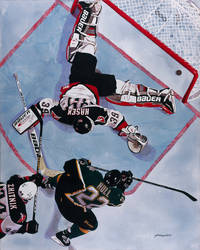 The Goal - Dallas Stars 1999 Stanley Cup Champions by MSCampbell