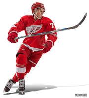 Dylan Larkin - Detroit Red Wings by MSCampbell