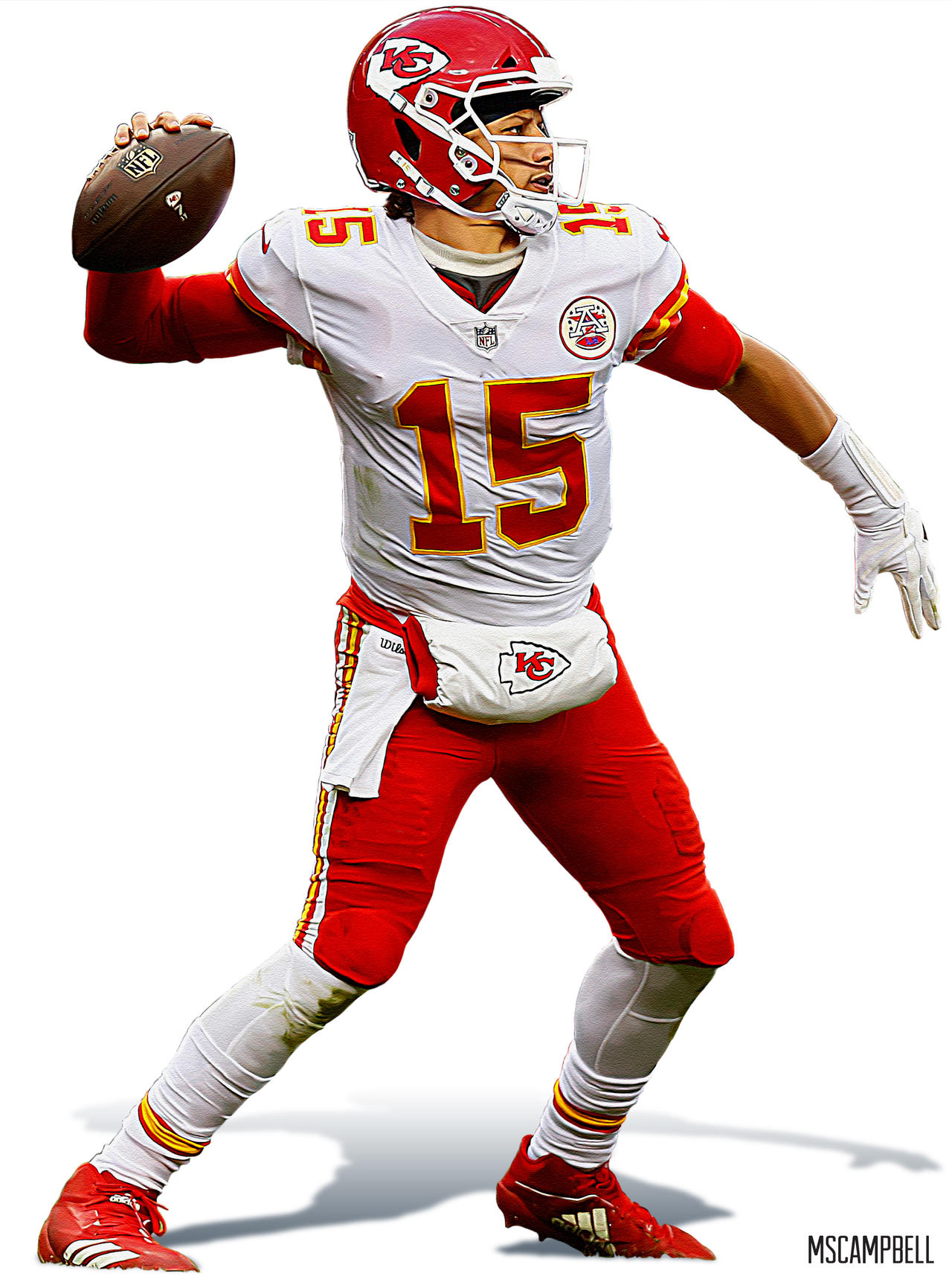 Patrick Mahomes Kansas City Chiefs By Mscampbell On Deviantart
