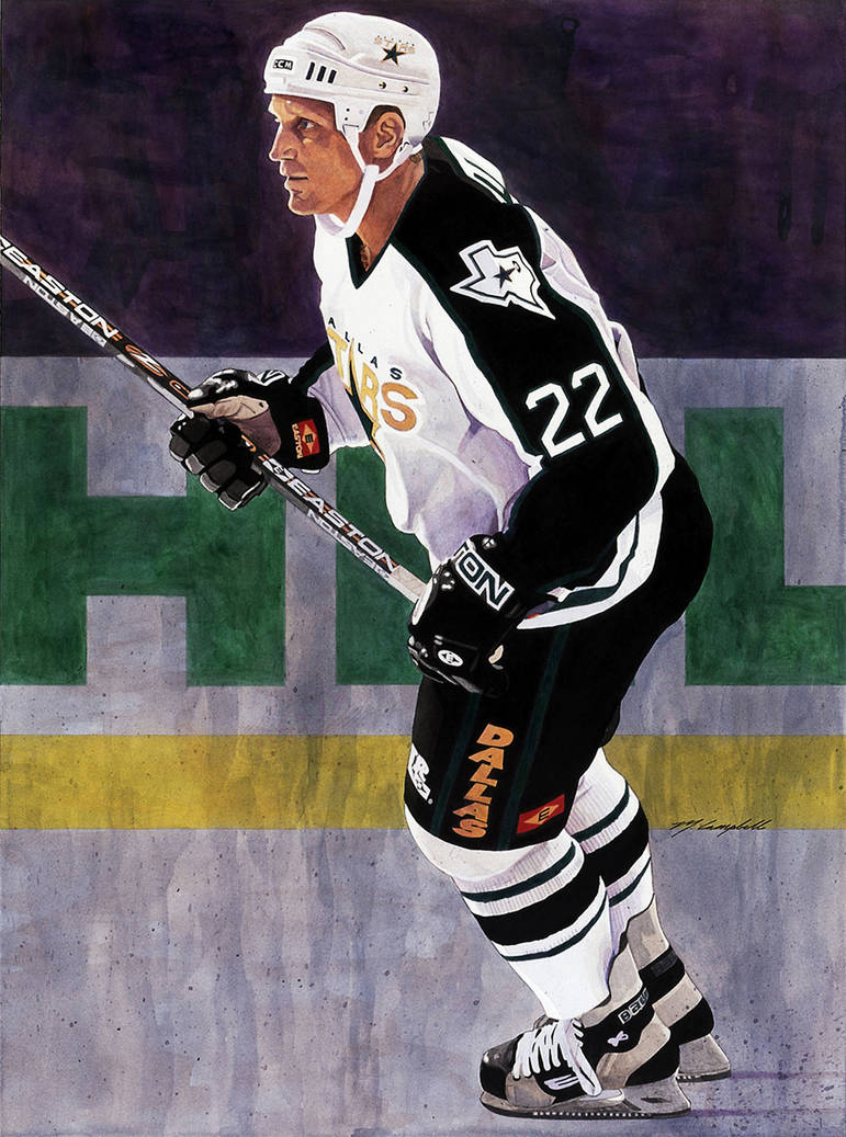 Brett Hull - Dallas Stars by MSCampbell