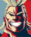 All Might - Pixel Art by PipocaDeSalto