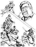 TRIBUTE TO JOHN BUSCEMA-INK by benitogallego