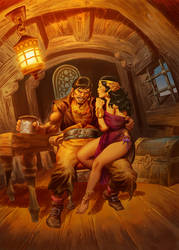 PIRATE AND WENCH-color by benitogallego