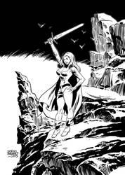 NESSA- warrior woman by benitogallego
