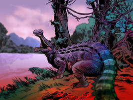 SARCOSUCHUS by benitogallego