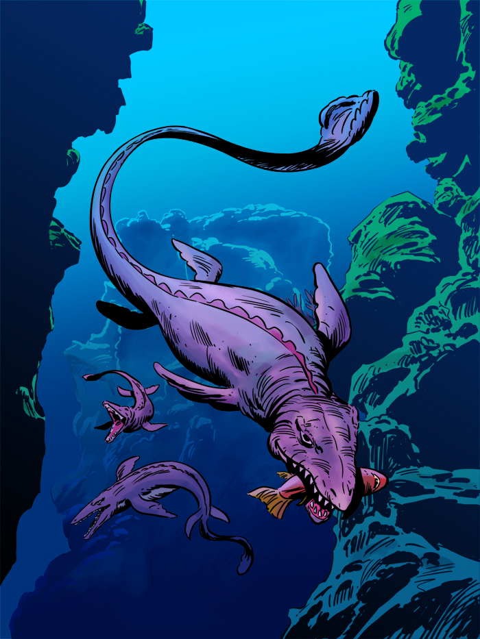 MOSASAURUS by benitogallego
