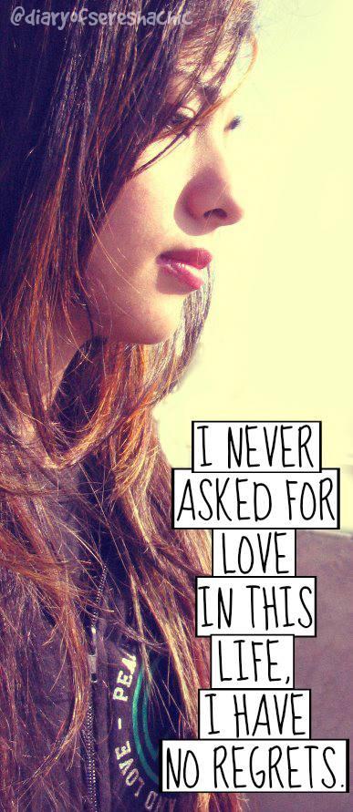 No regrets. by lovefreek
