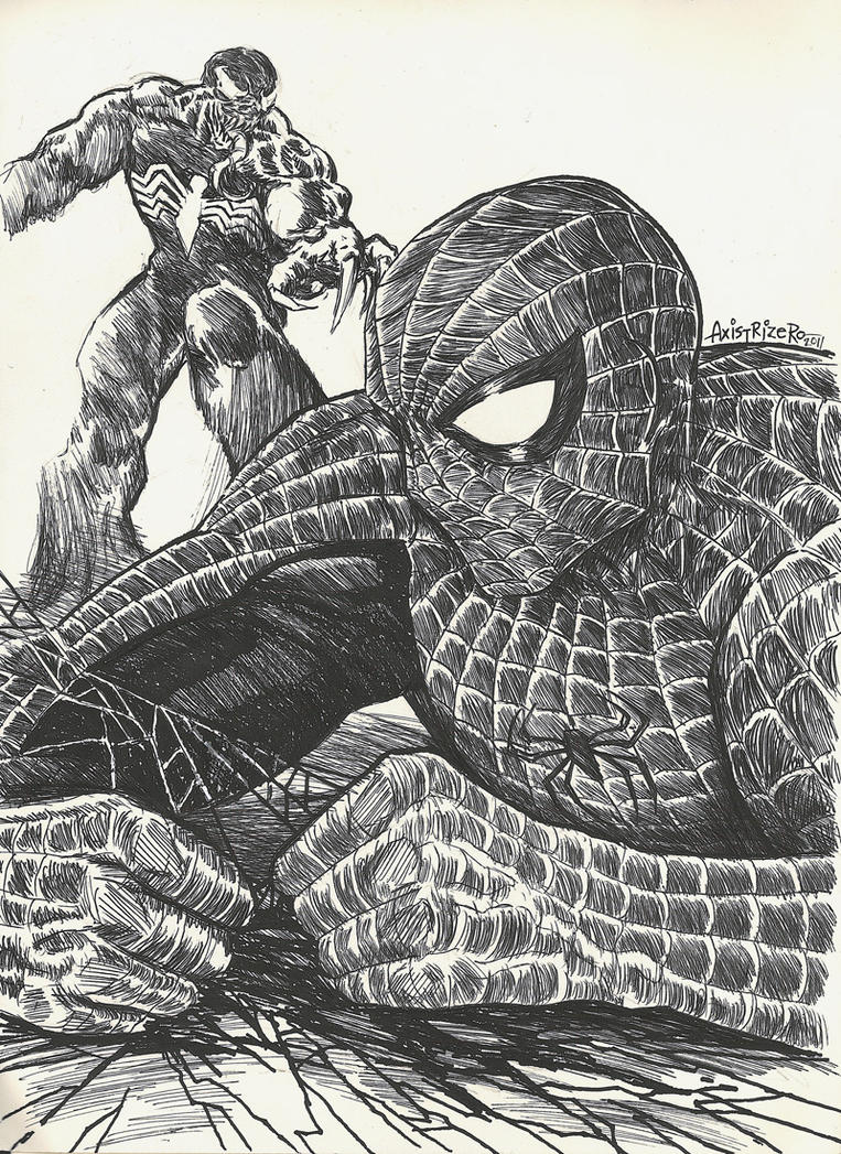 Spiderman VS Venom by axis000 on