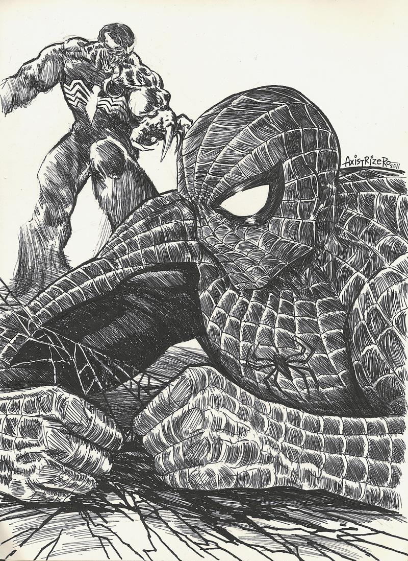 Spiderman VS Venom by axis000 on DeviantArt