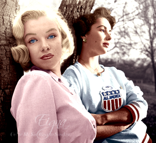 Marilyn and Liz by BooBooGBs