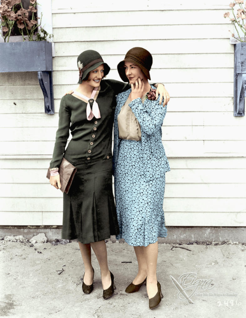 Joan Crawford and Kay Hammond 1925 by BooBooGBs