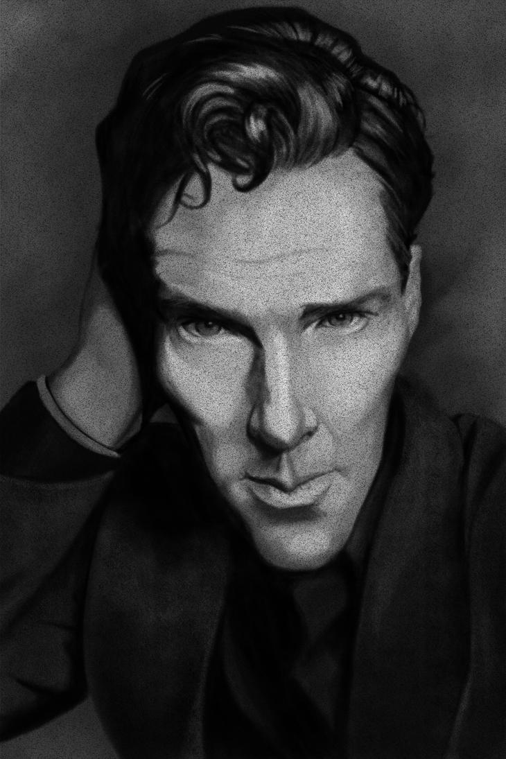 Cumberbatch Caricature by ParkerLeif