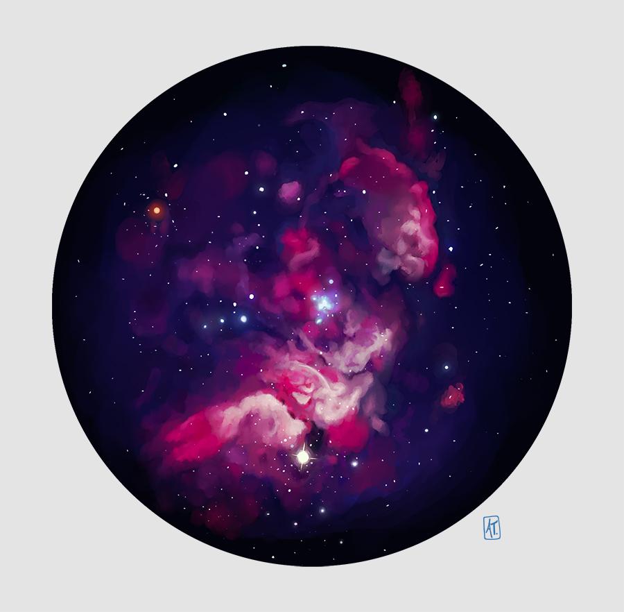 Pink Nebula by GoPanda on DeviantArt
