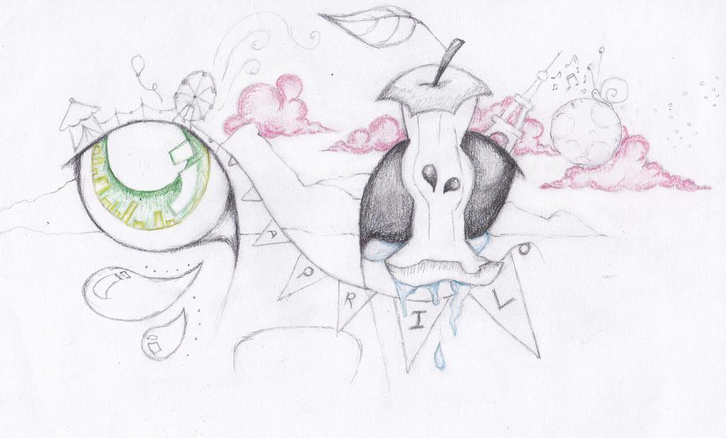 Depressed wolf drawing - photo#4