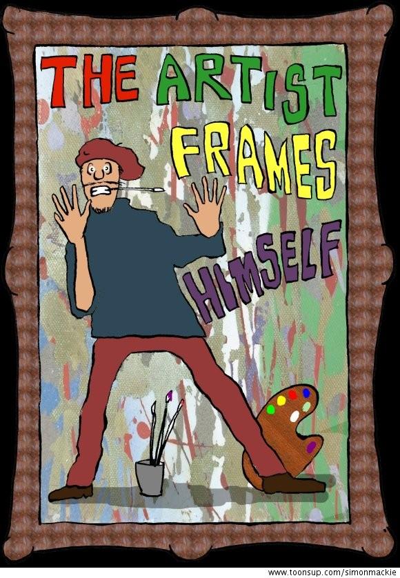 The Artist Frames Himself by simonmackie