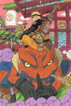 Naruto and Gamakichi?